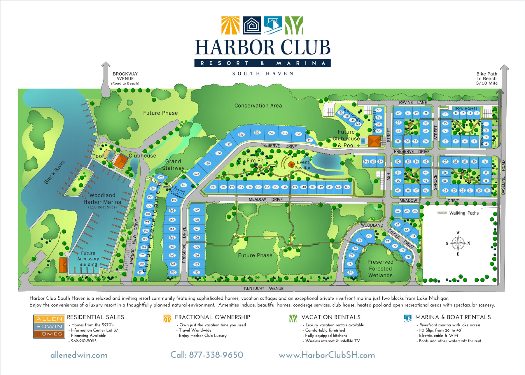 Site plan harbor club south haven for Beach house designs south haven mi