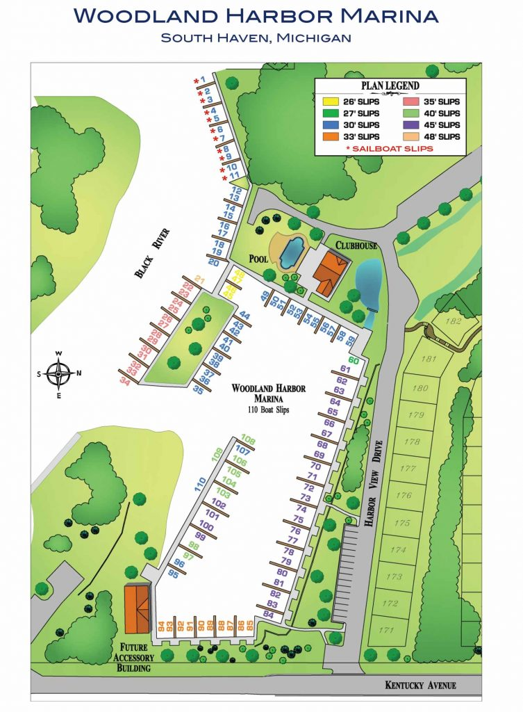 Woodland Harbor Marina South Haven Map
